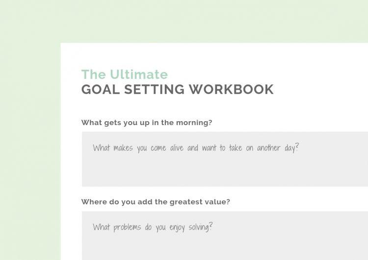Goal setting workbook private practice