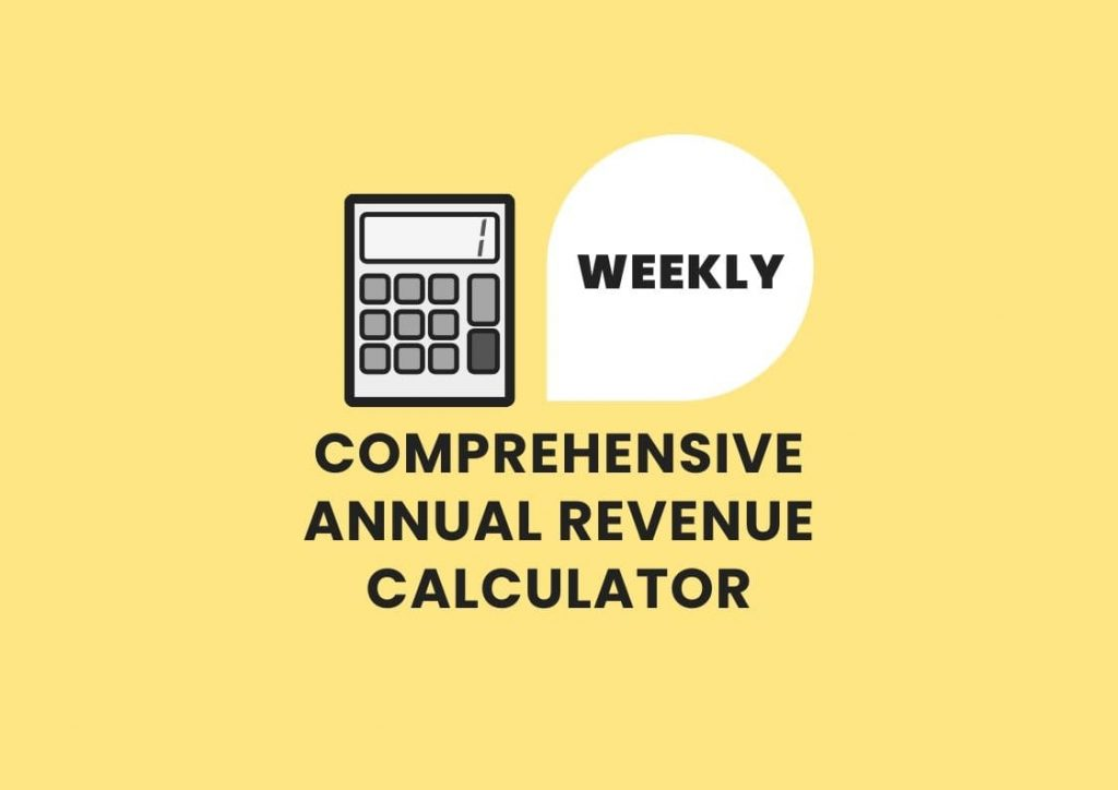 Weekly annual revenue calculator practicelab