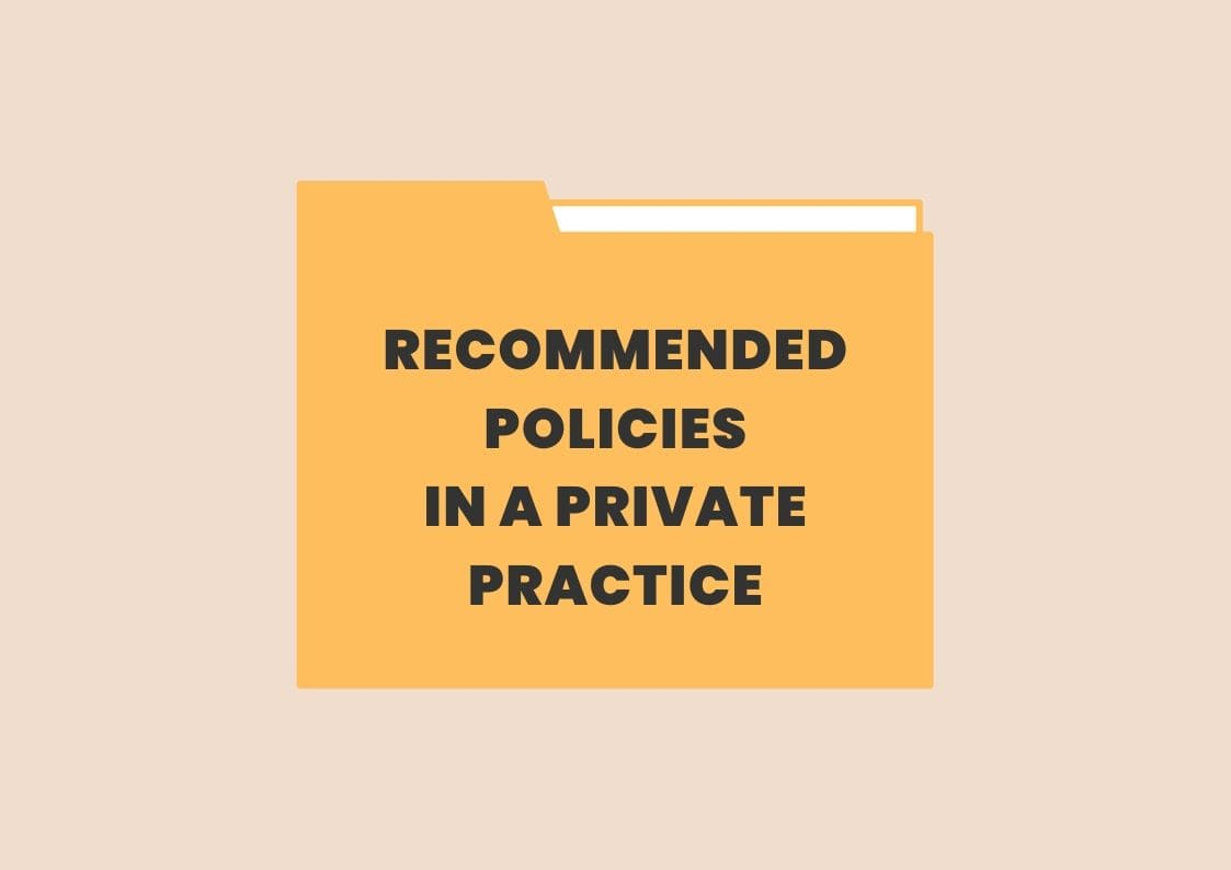 practicelab recommended policies list private practice