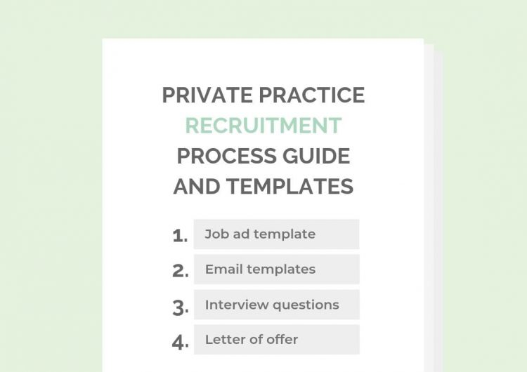 Private Practice Recruitment Process Guide Templates KW