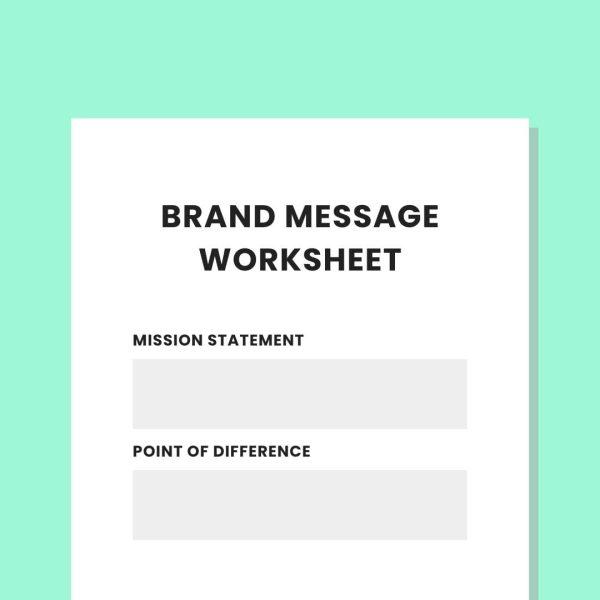 Brand Message Worksheet PL Private Practice