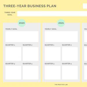 Three Year Business Plan Worksheet Practicelab
