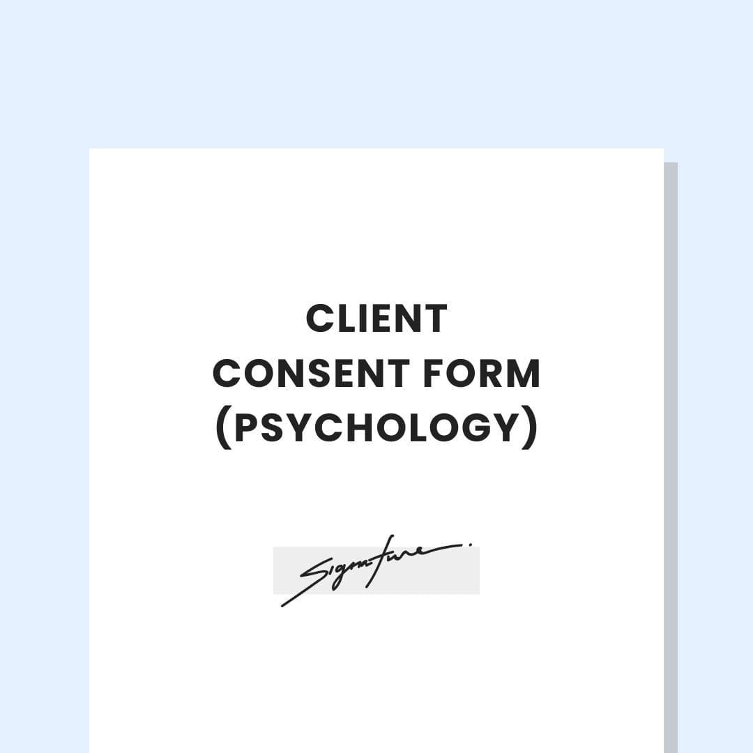 Psychology Practice Client Consent Form Template The Practice Lab