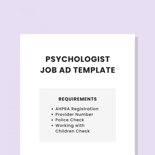 job ad template private practice psychologist pl