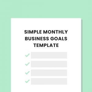monthly business goals template