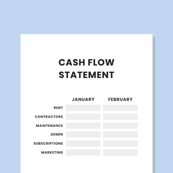 private practice cash flow statement template