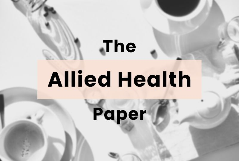 The Allied Health Paper Cover