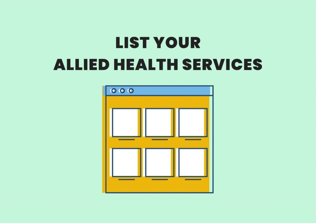 allied health services marketplace