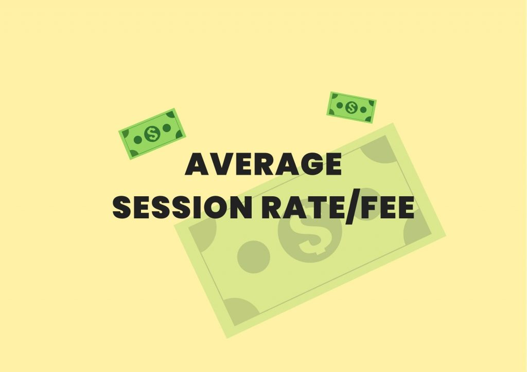 average session rate fee private practice