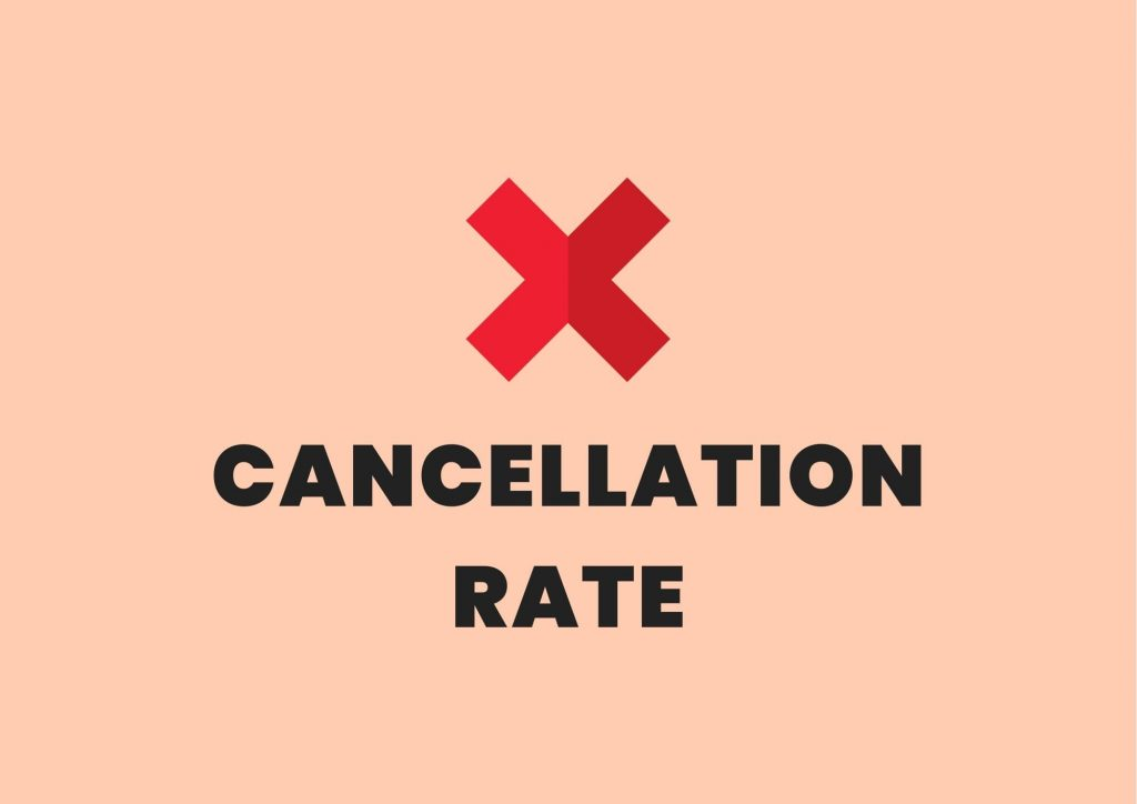 cancellation rate private practice