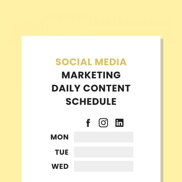 social media marketing daily schedule